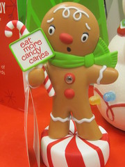 Gingerbread Man: Eat More Candy Canes (shaire productions) Tags: christmas xmas red holiday season photo december image decorative seasonal decoration celebration photograph decor imagery