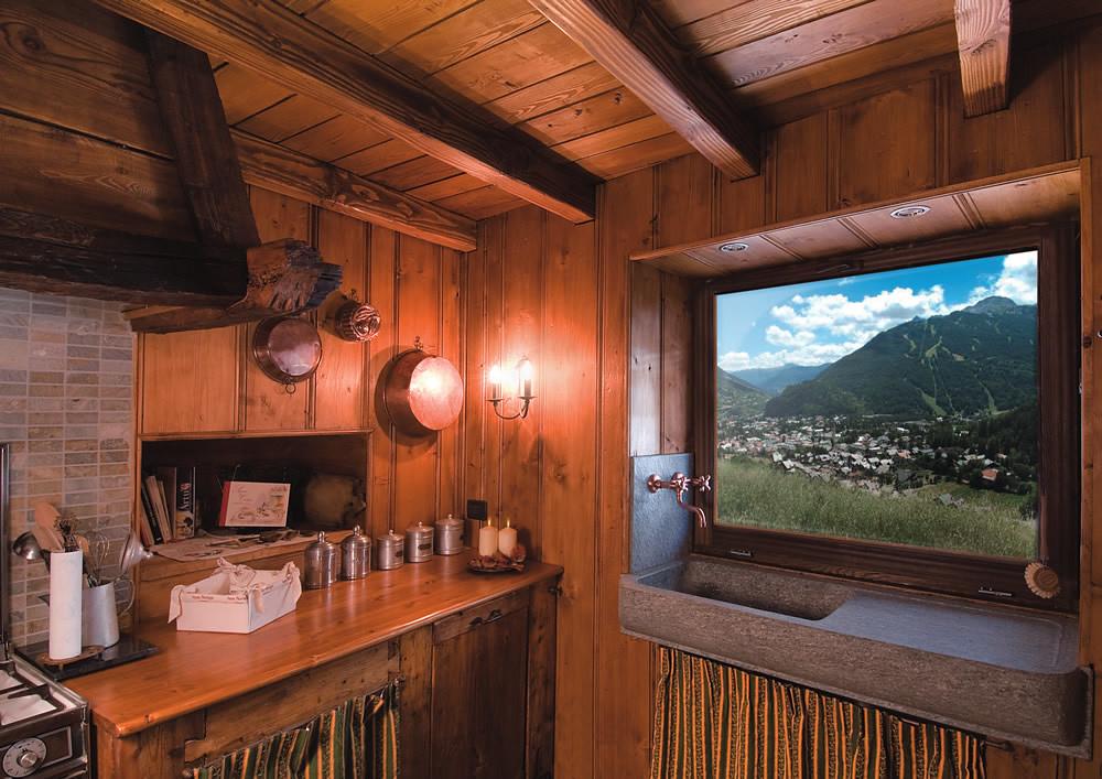 Trendy casa uquotgran arte rovere antico tags chalet - Baite di montagna interni ...