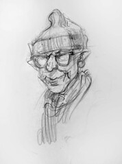 Man in Knit Cap (artsentinel) Tags: portrait portraiture figuredrawing sketchbookdrawings citypeople portraitdrawing artisticanatomy subwaysketches urbansketchers urbansketcher newyorkcitycommuters subwaysketcher keithgunderson subwaysketchers