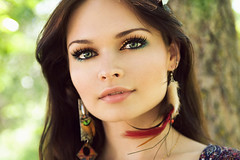 (Arianna Biasini) Tags: summer portrait beauty face model eyes pretty earrings ukrainian temnafialka