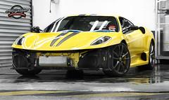 Ferrari 430 Scuderia Work-In-Progress (autodetailer) Tags: giallomodena supercarscarcarsautodetailerstudiomacdudedarrenchangsonywaterbeadinghydrophobichydrophillicdetailingpaintworkshowcarswheelsferrarif430scuderia