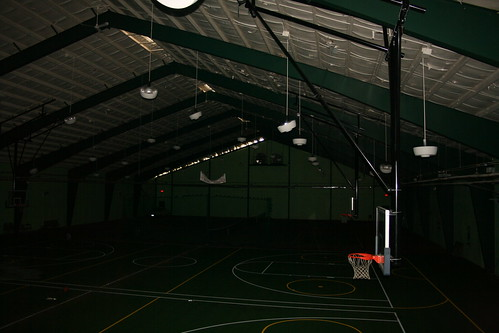 Sports center basketball courts