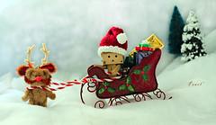A little Rein-bear will lead the way for Santa Danbo & his sleigh! (.OhSoBoHo) Tags: christmas snow love natal canon reindeer toy japanese 50mm navidad robot sweet manga boom kawaii natale nollaig yotsuba danbo amazoncojp revoltech tinyted canoneos40d danboard santadanbo danbophotography amazoncardboardrobot merrychristmasdanbo cutesantassleigh tinytedpassinghimselfoffasarudolph sothesleighisfromgoodwillfor1andtheantlersontinytedisactuallyapi