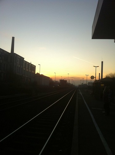 Kulmbach station at dusk