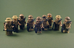 Marines!  Ooh-rah! (Nick Brick) Tags: lego anniversary halo reach minifig custom combat bungie evolved 343 minifigure brickarms brickforge