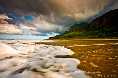 Splash of Solitude (landESCAPEphotography | jeff lewis) Tags: ocean longexposure travel sunset mountains beach jeff nature water clouds canon landscape flow photography hawaii unitedstates hiking scenic dramatic lewis wave trail valley kauai 5d canon5d kalalau landescape jefflewis canoneos5d wondersofnature foamtrails landescapephotography