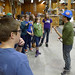 Middle school students tour Advanced Structures and Composites Center