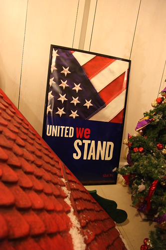 "Simon-branded ""United We Stand"" poster"