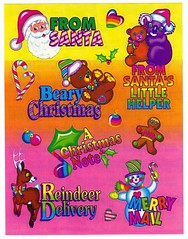 Vintage Lisa Frank Silly Senders Christmas Sticker Sheet S482 (Collectors Warehouse) Tags: vintage frank stickers lisa 80s 90s