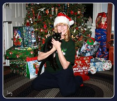 Christmas time with Bella (judecat (back with the pride)) Tags: christmas me cat blackcat feline bella judy