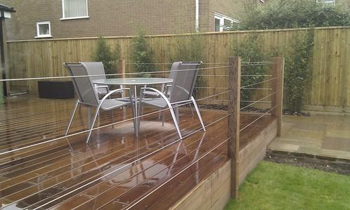 Hardwood Decking Alderley Edge - Modern Family Garden. Image 22