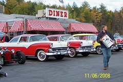 Diner (Littlerailroader) Tags: auto new cars ford chevrolet 1955 car automobile newengland newhampshire diner hampshire victoria chevy crown 1956 oldcar oldcars automobiles diners fairlane chevys fordfairlane chevrolets cruisenights fordtorino fordcars meredithnewhampshire