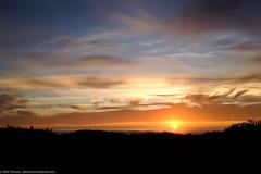 iPhone 4S snapshot of a beautiful sunset 04 Jan 2012 over Morro Strand State Beach