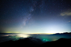 Missing (samyaoo) Tags: park longexposure sunset sea mist tree fog clouds star nationalpark taiwan trails  national  sunburst   seaofclouds tarokonationalpark nantou    startrail    hehuanshan      hehuanmountains