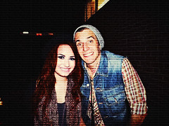 Manip 72 | Demi Lovato & John Ohh (izzyjoneslovato) Tags: friends cute smile night ginger couple personal disney redhead manip rare edit themaine johnocallaghan demilovato johnohh