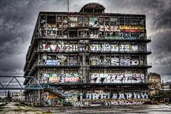 Derelict Building, Pantin (IFM Photographic) Tags: canon is factory îledefrance kitlens graffitti 1855mm derelict hdr pantin canaldelourcq seinesaintdenis derelictbuilding f3556 450d efs1855mmf3556is img69282930tonemappeda