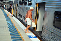 CRONULLA BOUND (Luke-rative) Tags: travel summer beach train carriage passengers commute cronulla tannedskin sutherlandshire trainpassengers shirtlessoldman peopleinrailwayandtramenvironments noshirtinpublic gettytransport powerhousecompetitionpeopleinrailwayandtramenvironments