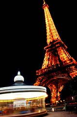 Living in a fairytale (Keeboon Tan) Tags: longexposure paris france tower eiffel merrygoround slowshuttle