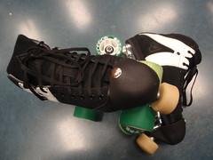 Deviance's New Kicks (Derby Star) Tags: md omega rollerderby rollerskates maryland poison derby skates frederick antik mg2 gumdrop flattrack luigino suregrip derbystar thebicycleescape atomwheels toestops