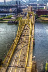 Roberto Clemente Bridge tilt shift HDR (Dave DiCello) Tags: beautiful skyline photoshop nikon pittsburgh tripod christmastree northshore bluehour nikkor hdr highdynamicrange pncpark pittsburghpirates cs4 steelcity photomatix beautifulcities yinzer cityofbridges tonemapped theburgh pittsburgher colorefex cs5 beautifulskyline d700 thecityofbridges pittsburghphotography davedicello pittsburghcityofbridges steelscapes beautifulcitiesatnight hdrexposed picturesofpittsburgh cityofbridgesphotography