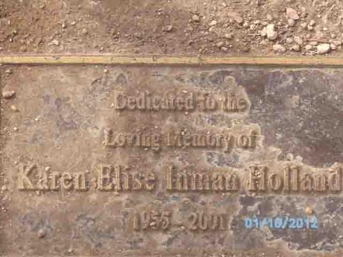 "Plaque - ""Dedicated to the loving memory of..."