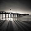 Morning Shadows (~ superboo ~ [busy busy]) Tags: longexposure morning sky santacruz texture beach clouds sunrise lights pier sand soft shadows capitola