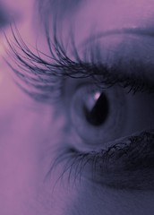 oOocchiOoO (Schorli_Carla) Tags: pink light woman selfportrait macro eye art colors girl youth canon mujer purple autoportrait femme young violet powershot g11