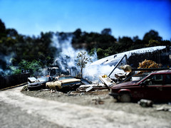 Set War of the Worlds II - Universal Studios LAX, Tilt Shift (Stefano Sola) Tags: baby lens war shift worlds universal studios tilt aereo spielberg miniatura incidente disastro