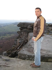 Francisco de Frutos of Dominion Technologies on Curbar Edge, Derbyshire
