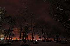 Şehrin kızıl kasveti (Atakan Eser) Tags: city snow cold turkey flickr türkiye turkiye istanbul kar bosphorus boğaziçi gece soğuk turkei şehir dsc9355 çamlıcatepesi