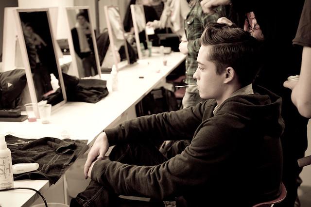 man male model backstage fallwinter corneliani saracimino milanmanfashionweek2012