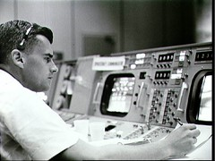 Chaffee on Console (NASA APPEL Knowledge Services) Tags: accident nasa astronauts launch edwhite gusgrissom apollo1 rogerchaffee explorions apollo204reviewboard