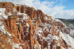 Stob's Pyramids , Rila mountain (.:: Maya ::.) Tags: red mountain nature rocks bulgaria rila human pyramids phenomenon stob  stobs        mayaeye mayakarkalicheva