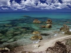 i miss summer today too (dtsortanidis) Tags: blue sea summer seascape green beach water clouds island sand rocks greece dimitris dimitrios lefkada tsortanidis