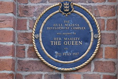 Photo of Hull Marina blue plaque