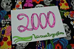 Obrigada! (LollyGates8D) Tags: flores flickr 2000 casamento papel caveira estampa caneta hidrocor canetinha visualizaes