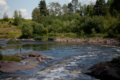 The River (Bloui) Tags: summer river water landscape 2011 august chicoutimi rebelxti riviredumoulin saguenay
