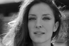 Marina Cappellini, actress. Sweet. (Gianni Wasabi) Tags: portrait blackandwhite bw girl beauty portraits women actress biancoenero marinacappellini