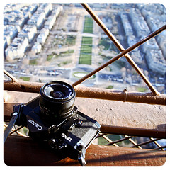 180 (vic xia) Tags: camera paris tower film canon eiffel