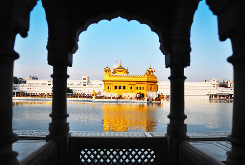 The Sikh Golden Temple in a Silhouette Frame [EXPLORED]
