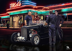 After All The Others Are Forgotten .... (Rat Rod Studios) Tags: cops marilynmonroe police 1950s neonlights singers americana diners hotrods jamesdean elvispresley moviestars