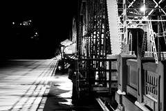 Liftbridge by Night (Bart Heird) Tags: bridge winter bw minnesota stillwater liftbridge
