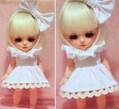 Pierrot set (Aya_27) Tags: pink white cute yellow set amazing doll dress heart unique sewing clown pearls special tiny bow stunning lea pearl bjd handsewn mywork lovely collar custom dollfie trim limited pierrot aline sewn ruffle dollie latidoll inhand babypink bigbow lati 16cm dyedresin faceupbyandreja