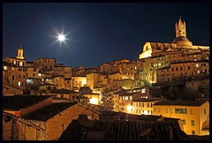 031/365 THE WORLD  Siena, Italy  'Moonlight becomes you' (TravelsWithDan) Tags: nightphotography italy oneaday cityscapes tuscany moonlight siena 365 theworld imageaday project365 medievalcity
