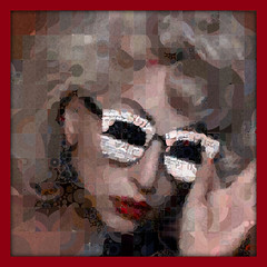 Lady Gaga In Red (qthomasbower) Tags: red portrait collage night circle star mosaic circles visualarts mosaics photomosaic icon pop visual marry photocollage gaga percolator blend the superimpose visualmashup ladygaga qthomasbower percolations ladygagaportrait ladygagamosaic marrythenight visualartsmashup ladygagamarrythenight percolatedtiles ladygagainred