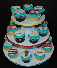 Dr. Seuss Themed Cupcake Tower (cjmjcrlm (Rebecca)) Tags: birthday party 1st first cupcake fondant buttercream cupcaketower drseusstheme
