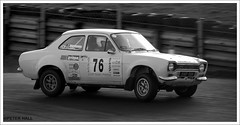 Roll (peterphotographic) Tags: dsc0014ed1bwedwm ford escort fordescort fordescortmk1 camerabag2 blackandwhite bw nikon d200 76 corner tyre wheel brandshatch kent england uk britain rally rallying racing motorracing blackwhitephotos