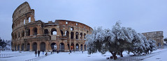 Postacard from Rome: Colosseo and Costantino's arch under the snow (filippo rome) Tags: italy snow rome roma italia neve 2012 colosseo arcodicostantino