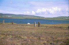2000-08-19 054 Ring of Brodgar and Loch of Stenness (martyn jenkins) Tags: neolithic ringofbrodgar orkneys orkneymainland