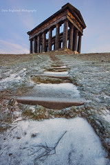 Room At The Top (Dave Brightwell) Tags: uk england snow monument temple frost path sony columns steps sigma pillars manfrotto sunderland penshaw norteast